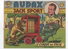 AUDAX première série n°71. Jack Sport. BOB DAN. Ed. Artima 1952. Cirque.
