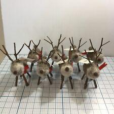 (8) Fun Reindeer Decorations by Det Gamle Apotek - Nwt - Christmas
