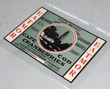 Vintage Unused Cape Cod Cranberries Yale Brand Shipping Crate Label, EXC!