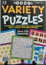 Kappa Easy Variety Puzzles March 2017 Over 250 Puzzles FREE SHIPPING sb