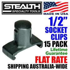 "STEALTH 1/2"" Twist Lock Socket Clips - 15 Pack Rail Tool Storage USA Made Clip"