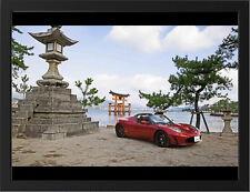 "2012 TESLA ROADSTER JAPAN A3 FRAMED PHOTOGRAPHIC PRINT 15.7""x11.8"""