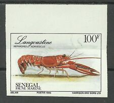 Senegal Langoustes Crevettes Spiny Loabster Shrimps Non Dentele Imperf ** 1987