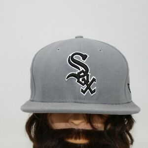 Chicago White Sox New Era 59FIFTY Fitted sz 7 1/2 Flat Brim Gray MLB Hat Cap