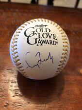 Greg Maddux Signed Gold Glove Award Baseball Beckett BAS Coa Atlanta Braves