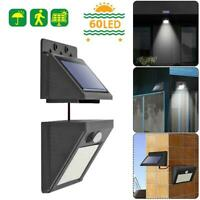 60LED Solar Power Split Wall Lamp Motion Sensor Separate Yard Light Three Modes