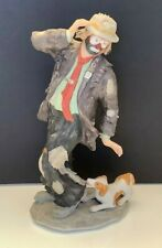 """Vintage Emmett Kelly Flambro Collection - 11"""" Hobo Clown W/ Dog Limited /9500"""