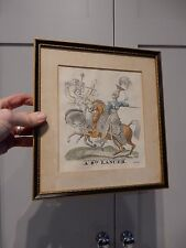 9th LANCER  Hand Coloured Engravings  D. Ash of 27 Fetters Lane, London 1826