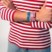 Street Photography Bangles Friendship Stackable Enamel Rainbow Tile Bracelet