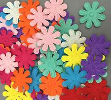 100Pcs Color Flowers Felt Appliques Fabric Flower decoration Non-woven 27mm