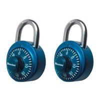 Master Lock Preset 3-Digit Dial Combination Padlock (2-Pack)