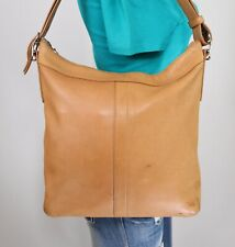 COACH SLIM DUFFLE Med Tan Leather Shoulder Hobo Tote Satchel CrossBody Purse Bag