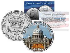 ST PETER'S BASILICA * Famous Churches * JFK Half Dollar U.S. Coin Rome Italy