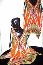 "Kaftans ""Embellished"" (Vibrant tropical orange) ""Wholesale to the Public"""