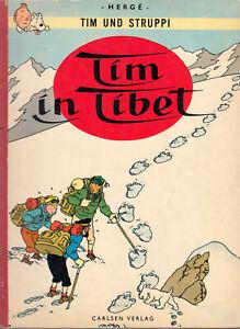 """Tim und Struppi """"Tim in Tibet"""", Erstauflage 1967 mit Stoffrücken - Mehr im Shop"""