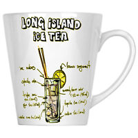 Long Island Ice Tea Coctail Receipts Bar Menu 12oz Latte Mug uu86L