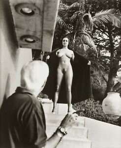"Helmut Newton - Nude Female Exhibitionist Flashing 1989 - 17""x22"" Fine Art Print"