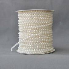 AU 10m 3mm Imitation Pearl Beads Cotton Line Chain Garland Wedding Party A