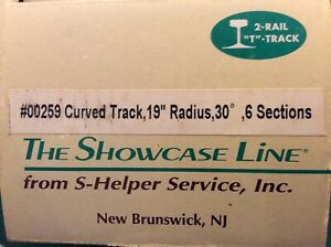 6 SECTIONS S-Trax Showcase Line 00259 CURVED TRACK~S American Flyer S-Helper