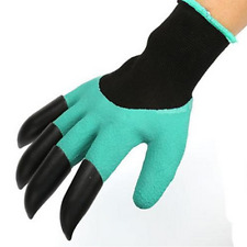 1Pair 4ABS Claw Gardening gloves for Digging &Planting with Garden Glove New
