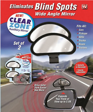 Clear Zone Blind Spot Adjustable Wide Angle Mirror New Set Of 2 As Seen On TV