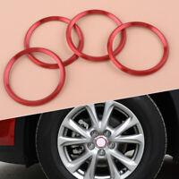 4x Rot Aluminium Radmitte Nabendeckel Center Hub Ring für Mazda3 6 CX3 CX5 tp