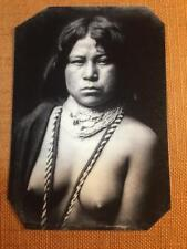 Mohave Indian Woman c 1903  Historical tintype C604RP