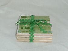 4 Summer Fun script 4x4in handmade ceramic tile coasters home bar decor gift