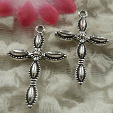 free ship 60 pieces Antique silver cross charms 29x18mm #4141