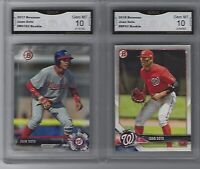 JUAN SOTO 2 ROOKIE CARD LOT GRADED GMA GEM MINT 10 NATIONALS SUPERSTAR