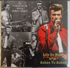 """David Bowie - Tonight Show 05-09-80 Life On Mars/Ashes To Ashes 7"""" Clear Vinyl."""