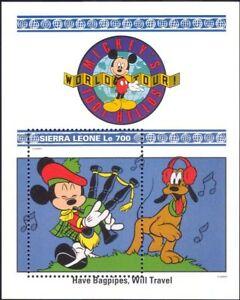 Sierra Leone 1992 Walt Disney/Mickey/Goofy/Music/Cartoons/Animation m/s (b1605r)