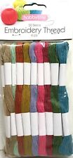 NEW Pack of 20 X Mouline  Embriodery Thread Floss Needle craft Green Blue Pink