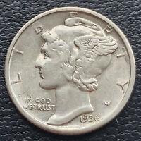 1936 D Mercury Dime 10c High Grade BU #31302