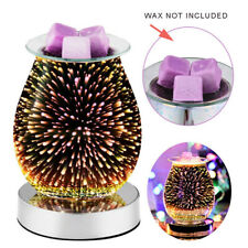 💖 3D Glass Electric Firework Oil Wax Melt Burner Fragrance Aroma Touch Lamp NEW