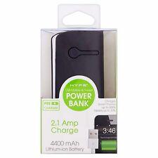 Hype 4400mAh USB Mobile Tablet Power Bank Lithium-Ion Battery 2.1 Amp Black