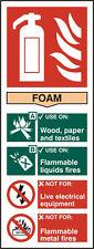 Fire Extinguisher Foam RPVC Sign
