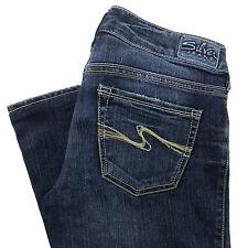 Silver Jeans 26 Womens Pants Bootcut 26X31 Dark Blue Aiko