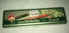 Carb Othello Postell Colored Art Pencils - Vintage Set of 5 with Metal Case Nos