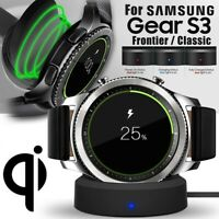 Wireless Charging Dock Charger Cradle For Samsung Gear S3 Smart Watch I7R8