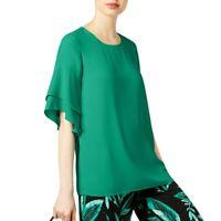 ALFANI NEW Women's Ruffled Sleeve Blouse Shirt Top TEDO