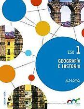 (C.L).(15).GEOGRAFIA HISTORIA 1ºESO.TRIM.(C.LEON). ENVÍO URGENTE (ESPAÑA)