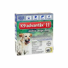 Bayer K9 Advantix II Flea and Tick Control Treatment for X-Large Dogs over 55 LB