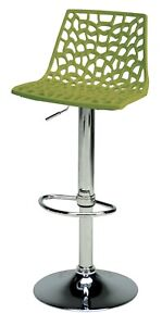 "Italian Mfg Gas Adjustable Bar Stool, Seat Height from Adjusts from 22.5""-30.75"""