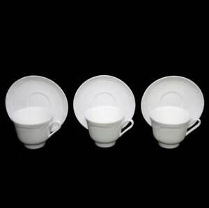 Vintage Wedgwood ENGLAND metallised bone china set of 3 teacup duos
