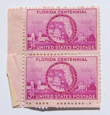 Florida Centennial 1845-1945 3 Cent Postage Stamps (2) WWII Era