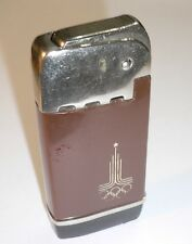 1980 OLYMPIC GAMES MOSCOW USSR Original Lighter with OLYMPIC EMBLEM No2