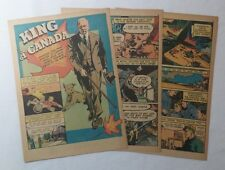1942 six page cartoon story ~ MACKENZIE KING Prime Minister of Canada