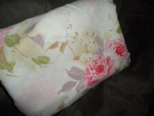 SPRINGMAID PINK ROSES VIOLET TAN GREEN FLORAL DOUBLE FULL FITTED SHEET 8""