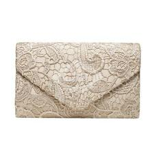 Floral Lace Satin Clutch Envelope Handbag Bag Wedding Prom Evening Party Bridal